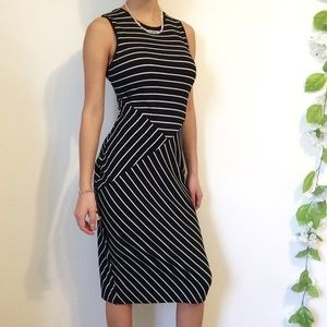 NWT Stripe Ribbed Midi Dress